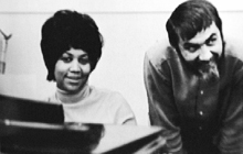 Aretha Franklin and Tom in the studio.